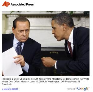Barack Obama e Silvio Berlusconi - 15 Giugno 2009